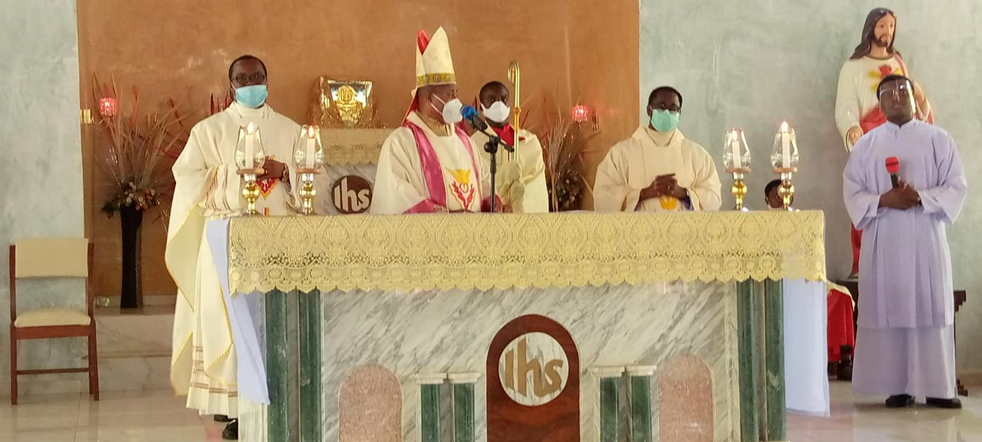 First Cathedraticum/Chrism mass since the creation of Ekwulobia Diocese holding @ St. Dominic Savio Seminary, Akpu