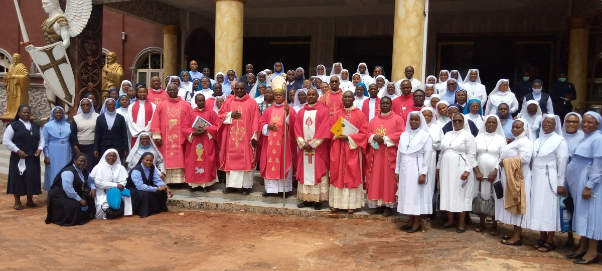 The First meeting with members of Consecrated life with Most Rev. Dr. Peter E. Okpaleke at St. Joseph's Cathedral, Ekwulobia, this day being 30th May, 2020.